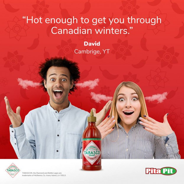 Pita Pit heats things up with Tabasco